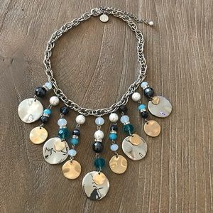 White House Black Market Charm And Stone Necklace